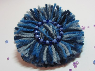 Tutorial: Wool flowers. Flores de lana.