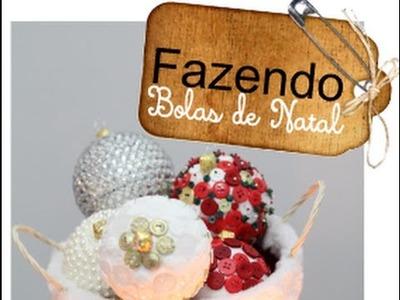 Criando bolas de Natal - DIY
