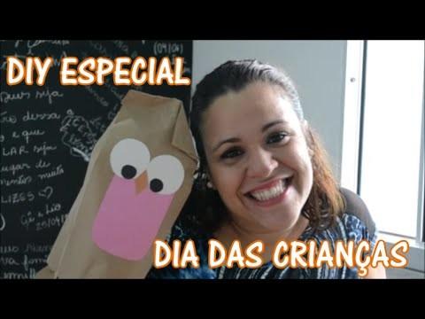 DIY DIA DAS CRIANÇAS - AMARELINHA + BONECO DE SACO DE PAPEL
