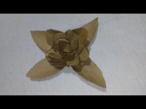 Diy: Flor abacaxi feita com rolinho de papel