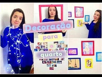 DIY ideias de decoração para a parede - Inspirado no Tumblr ♥