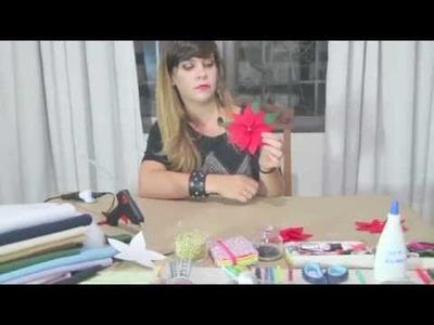 Flor de Natal - Bico de Papagaio - DIY ( Faça-Você