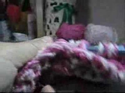 Crochet Tunisiano -  Cachecol com Bolso - Parte 01