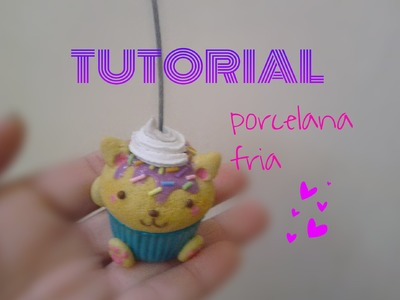 Cupcake gato =^-^= porta notas TUTORIAL PORCELANA
