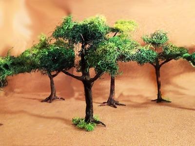 Diorama (parte 2) Árvores - Miniature (part 2) Trees
