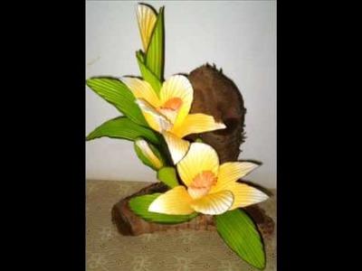 Flores em E V A