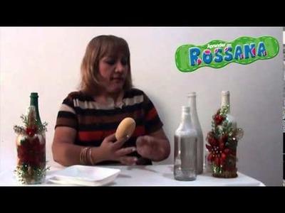 Aprender con Rossana TV: Decoración para botellas de vidrio