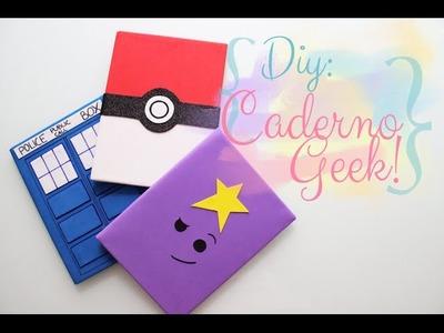 DIY de volta às aulas: Caderno Geek fácil e barato - Tardis, Hora de aventura e Pokemon!