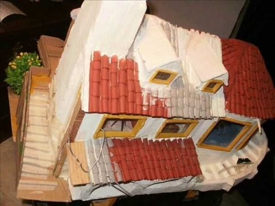 Miniatura-casa de papel e gesso  parte-2 (5)