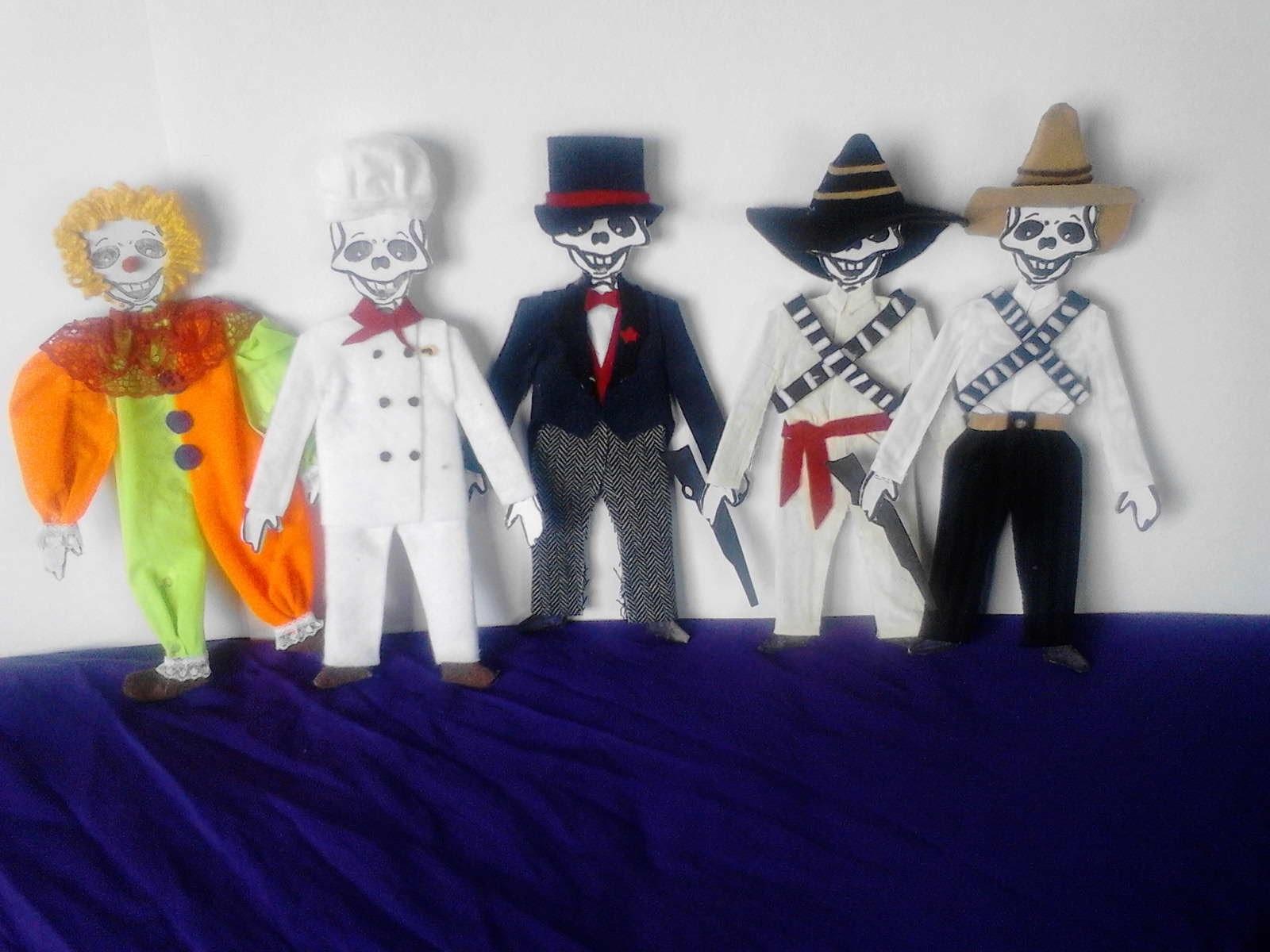 Como vestir calaveras  de papel catrin