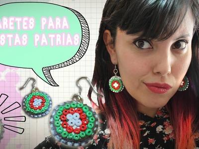 DIY: Aretes con Corcholatas para FIESTAS PATRIAS