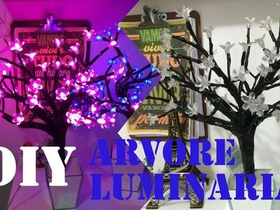 Diy Árvore Luminária com flores de luzes | Imaginarium Inspired| Tatiane Xavier