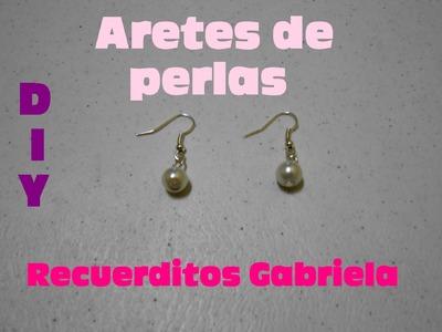 DIY aretes de perlas