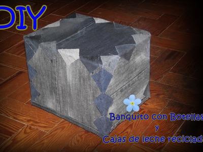 DIY BANQUITO CON BOTELLAS RECICLADAS