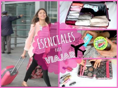 Mis esenciales para viajar en AVION! ( Empacar y outfit!)
