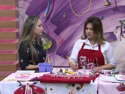 Mulher.com 01.10.2014 - Pano de Copa por Eliane Rolim - Parte 1