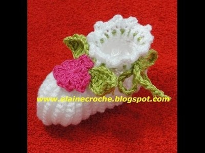 CROCHE - MINI FOLHA APLIQUE