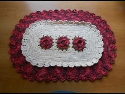 Croche Tapete com Flores e Babadinhos Parte 2