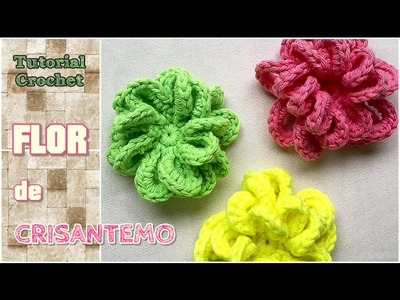 Flor crisantemo a crochet