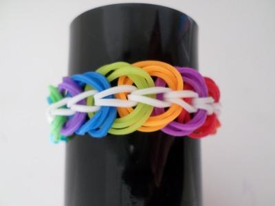 Pulseira de Elástico Triple Link (rainbow loom)com Agulha de Crochê - p. INICIANTES