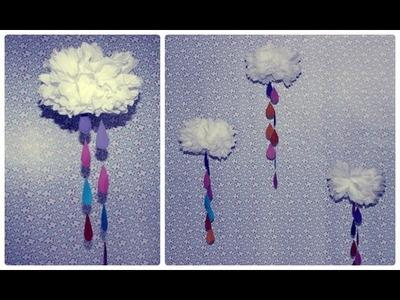 DlY: Decorando o quarto com nuvens de papel