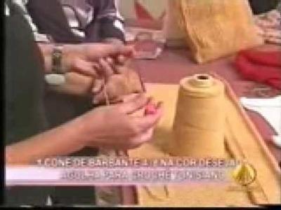 """Crochê Tunisiano com Mary """"Sacola parte 1"""""""