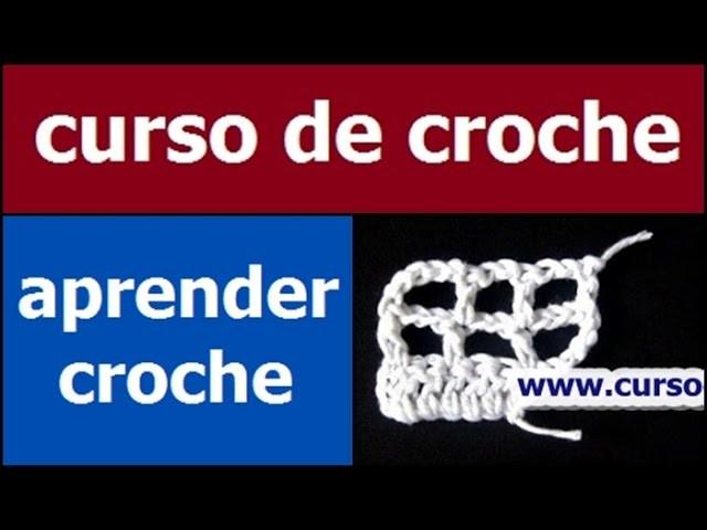 CURSO DE CROCHE AULA 076.081 AUMENTOS DO CROCHE FILÉ 4