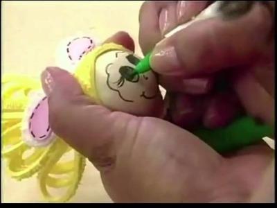 Edna Masan - Programa Atelie na TV - 27.3.2010 - Magrela de Páscoa (Porta-Bombons)