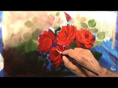 Pintado rosas vermelhas segundo video