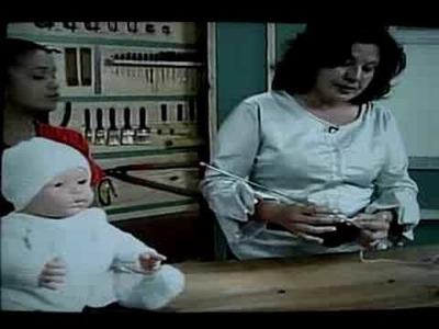 Touca Bebê crochet tunisiano Mary Magoga