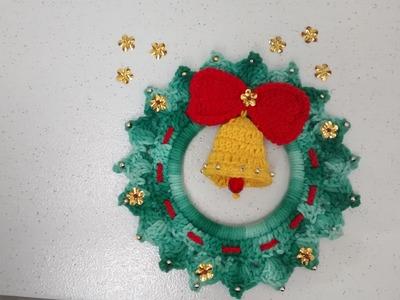 Vídeo aula Guirlanda em crochê - Especial de Natal 1.2