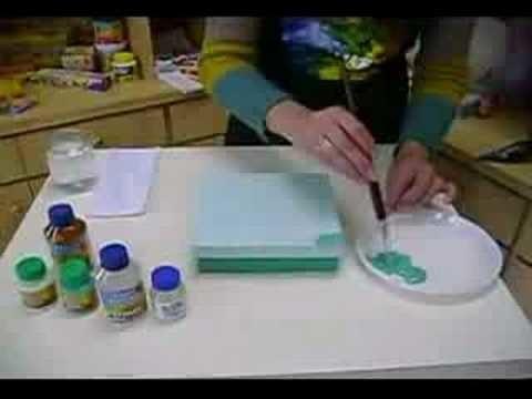 Artesanato aplicando Verniz Craquelê