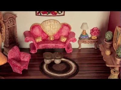 Casinha com miniaturas de Resina