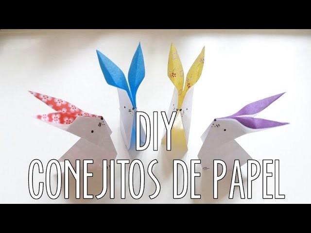 CONEJITOS DE PAPEL   DIY