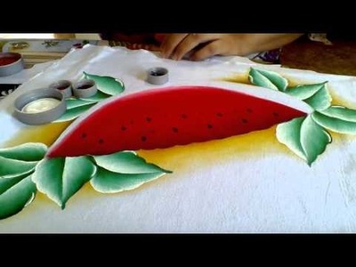 Ensinando a pintar melancia com lia ribeiro