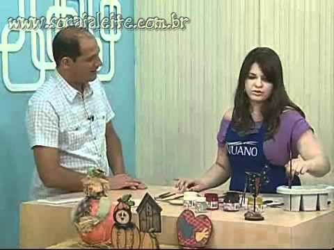 Soraia Leite no Ateliê na TV - Pintura Country