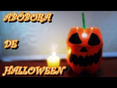 DIY: Abóbora de Halloween com garrafa PET - Jack- o' Lantern