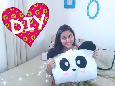 Diy Almofada de Panda por Thais Freire