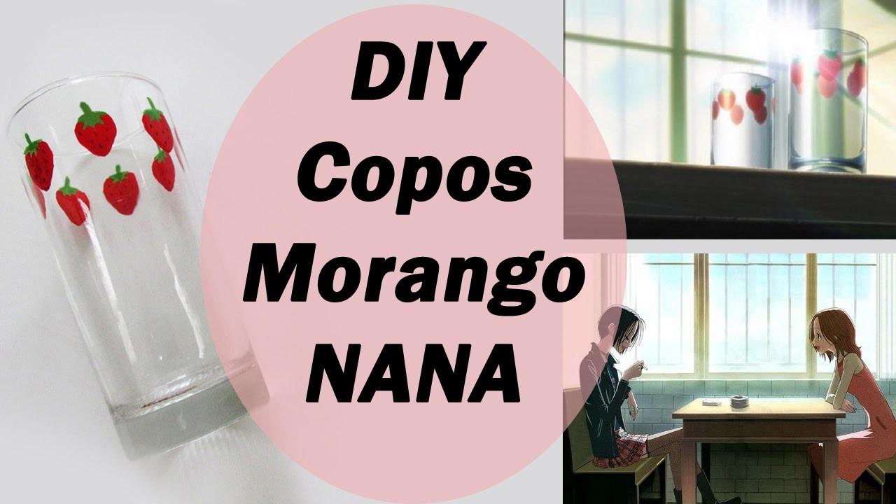 DIY: Copos de Morango da NANA (Nana's Strawberry Glasses) | Ideias Personalizadas - DIY