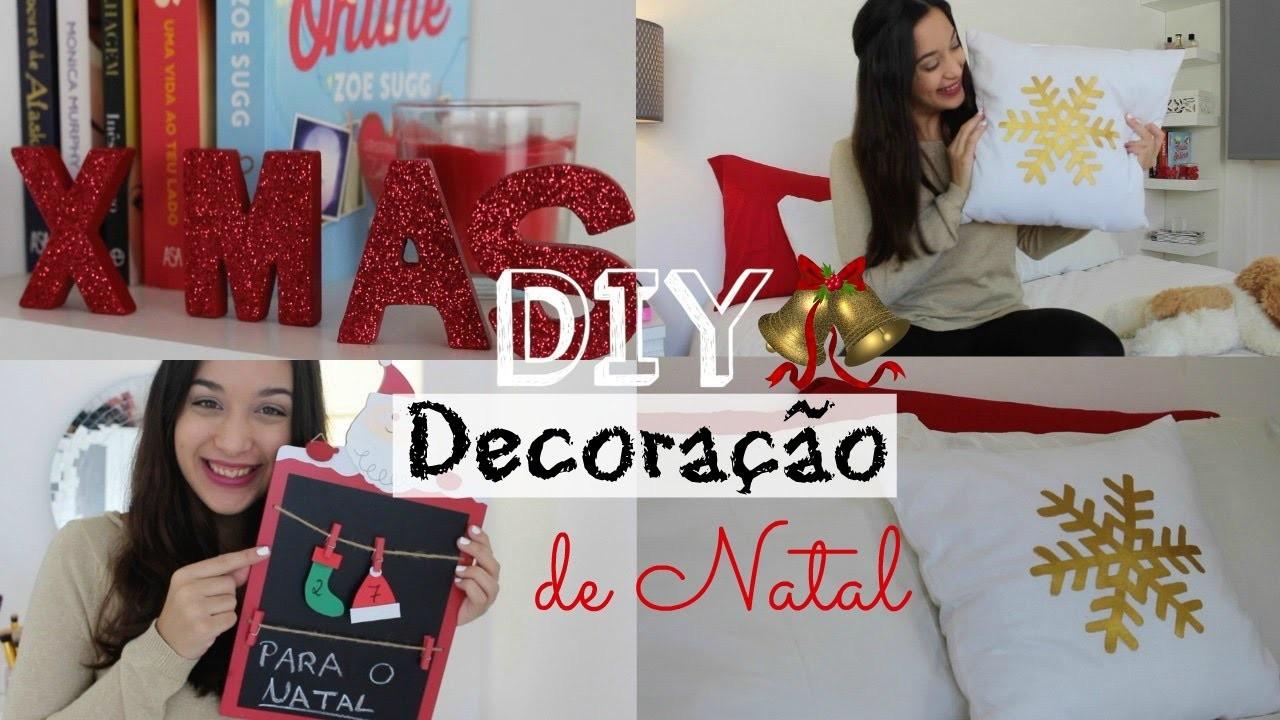 DIY ♥ Decoração de Natal & Ideias Baratas ! Holiday Room Decor