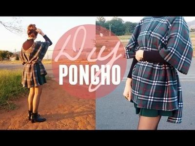 DIY Poncho | Super fácil - Sem costura