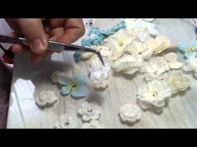 Flores de Crochet para apicar como tocado Video 76
