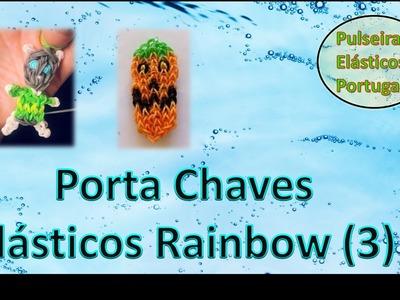 Porta chaves pulseiras elasticos rainbow loom charm bonecos parte 3 elasticos portugal v1 1