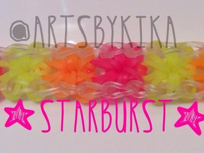 Rainbow Loom Starburst bracetet - Pulseira  Rainbow Loom Starburst Português