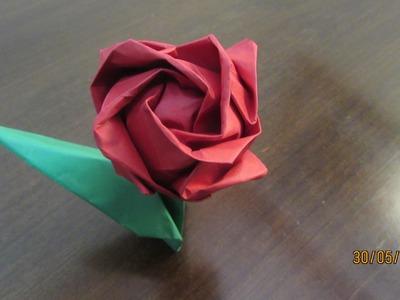 Timelapse da rosa kawasaki de origami