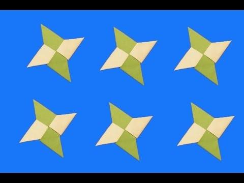 DIY ninja estrela de papel - aprender a fazer este estrela - origami