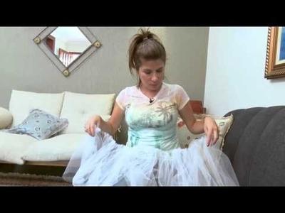 DIY Saia de tule - Quadro Faça Você Mesmo (Mulher.com)