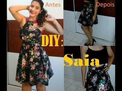 DIY: Transforme seu vestido em uma saia| MUITO FÁCIL