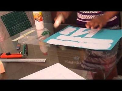 Faça você mesmo (DIY) - letra 3D de papel passo a passo - Favo de Mel