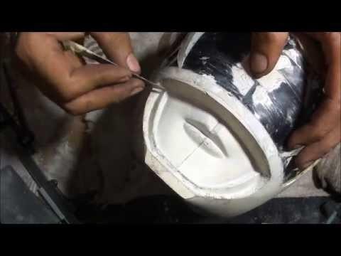 How do you make a POWER RANGER helmet - DIY - part 13